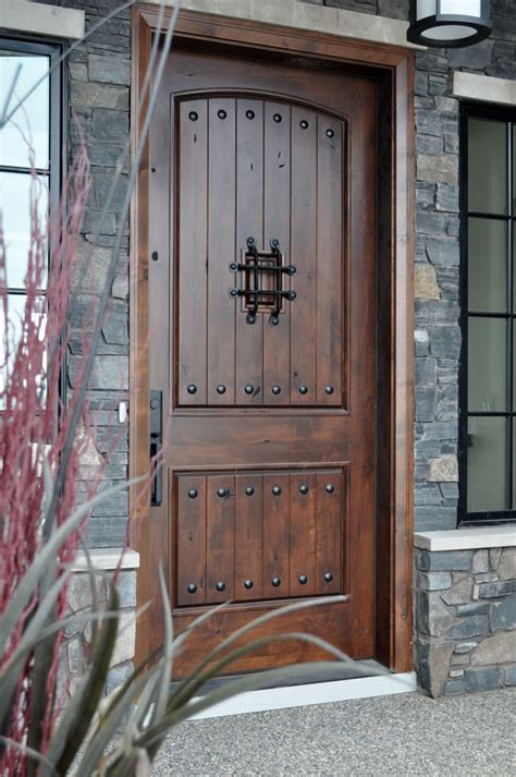 Hardwood Front Doors Home Entrance Door Rustic Entry Door