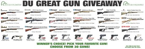 Great Gun Giveaway - banquet guns available