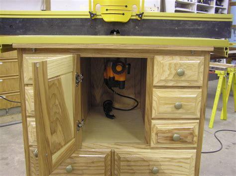 router cabinet by klipper lumberjocks