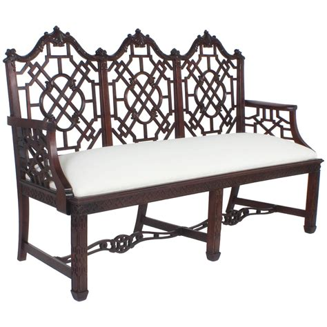 english chinese chippendale style chair at 1stdibs antique english chinese chippendale style settee for sale