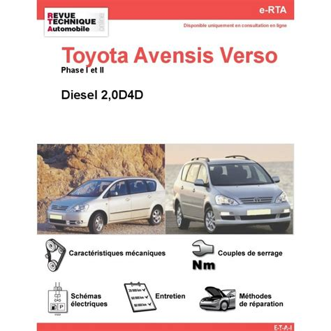 site officiel toyota revue technique toyota avensis verso diesel rta site