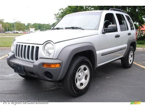 silver jeep liberty 2002 jeep liberty sport 4x4 in bright silver metallic
