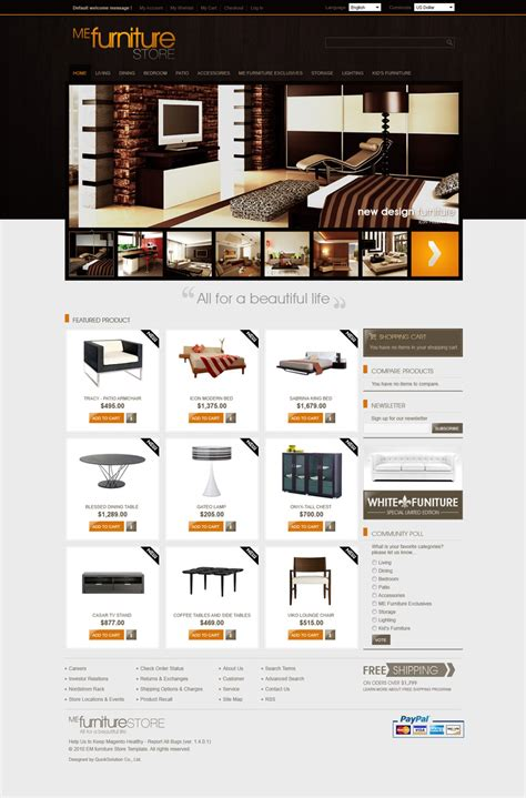 layout furniture online 10 best magento themes suitable for gadgets furniture