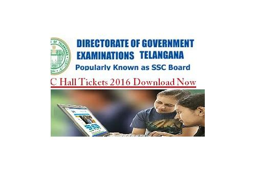 ssc exam hall ticket download 2016 telangana