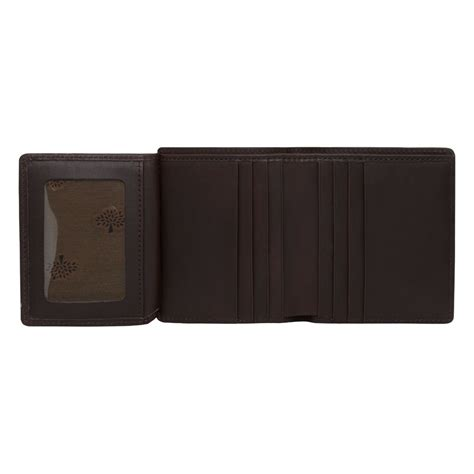 fold mini wallet lyst mulberry mini tri fold wallet in brown for