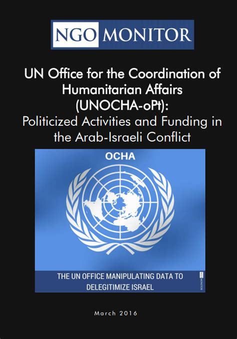 un report reveals how israel is coordinating with isis watchdog un humanitarian agency operating in israel aids