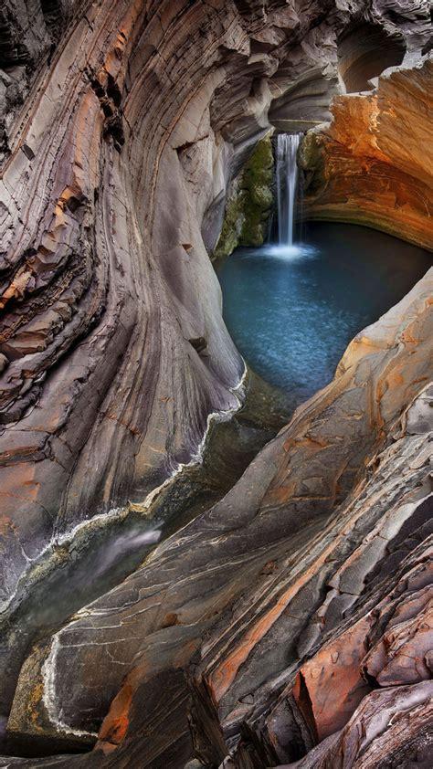 wallpaper waterfall  hd wallpaper hamersley gorge