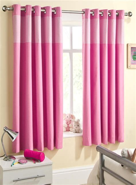 pink gingham curtains childrens pink gingham thermal blackout eyelet ring top