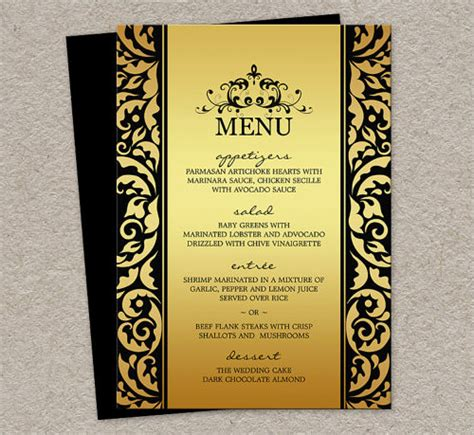birthday menu template sle menu template 19 in pdf psd word