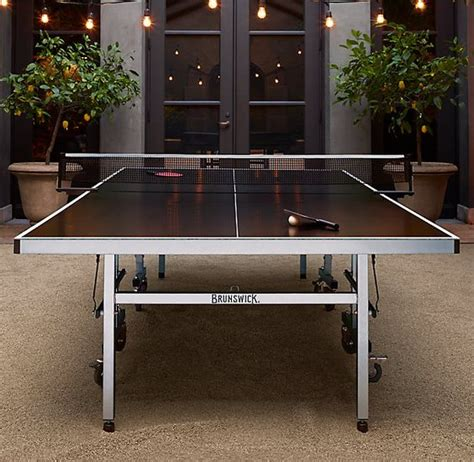frontgate ping pong table brunswick indoor outdoor tournament table tennis