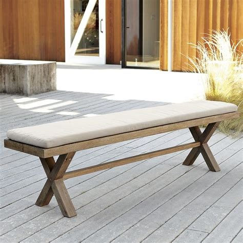 west elm bench cushion jardine bench cushion contemporary outdoor benches