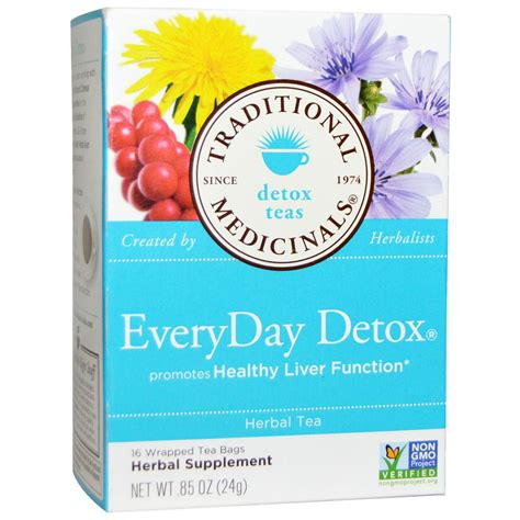 Traditional Detox Tea by Traditional Medicinals Detox Teas Everyday Detox Herbal