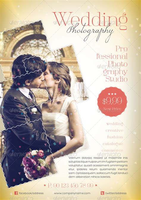 flyer design wedding wedding photography flyer template by grafilker graphicriver