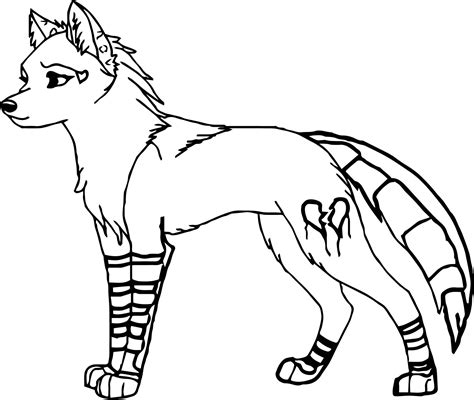 Coloring Page Wolf by Anime Wolf With Wings Coloring Pages To Print Free