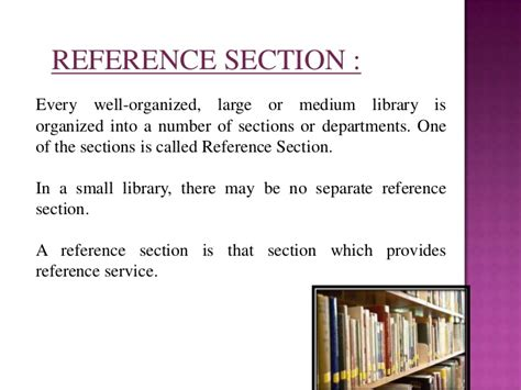 reference section of the library reference queries