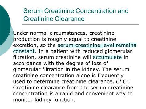 creatinine serum creatinine serum blood levels