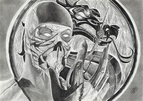 Mortal Kombat X Sketches by Scorpion Mortal Kombat Drawing By Extremegun On Deviantart