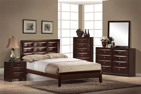 global furniture livia 4 panel bedroom set in merlot