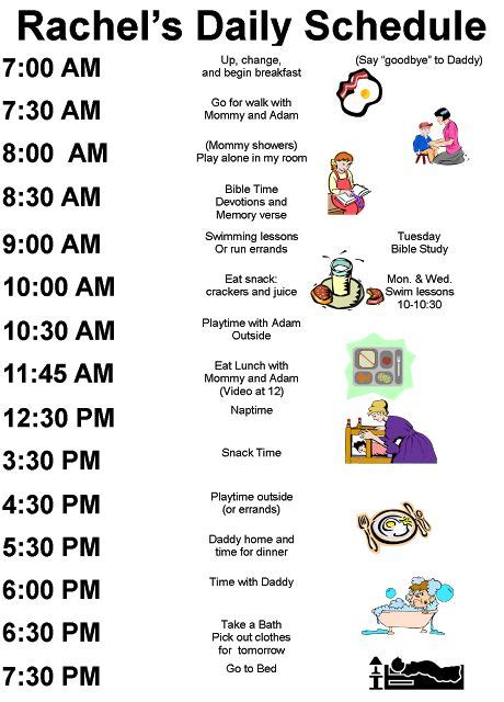 printable toddler routine home kids daily schedules and daily routines on pinterest