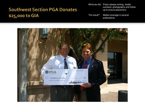 sw section pga southwest section pga a case study