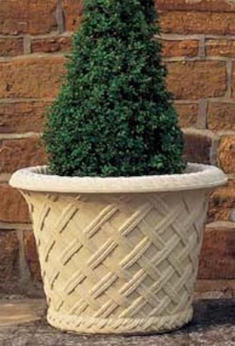 Limestone Planters by Traditional Cast Limestone Planters Hornby Garden