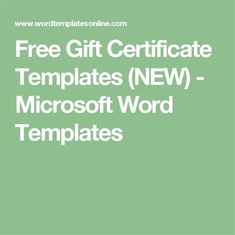 microsoft gift certificate templates 1000 ideas about free certificate templates on