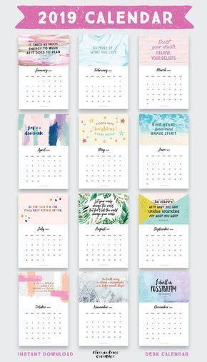 printable  inspirational quotes calendar  bonus calendar calendar  printable