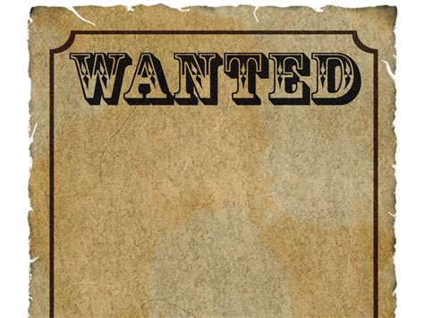 wanted poster template powerpoint wanted border clipart clipart suggest