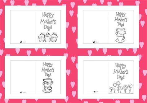 card template eyfs twinkl resources gt gt s day colouring cards templates