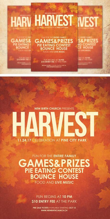 Harvest Celebration Church Flyer Template By Loswl On Deviantart Harvest Festival Flyer Free Template