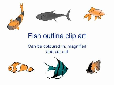 Fish Outline Clip Art Fish Ppt Templates Free