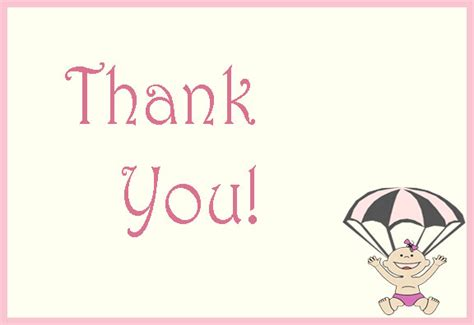 thank you cards template for baby shower baby shower thank you cards templates