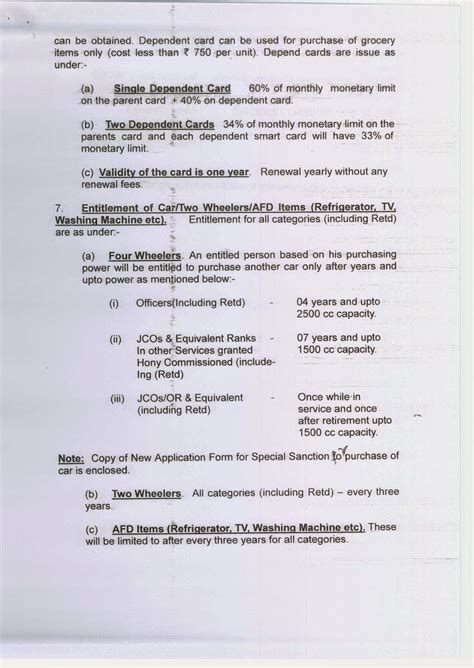 car application application format for grant of special sanction for