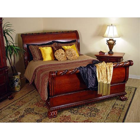 king size sleigh bedroom sets regal cherry 2 king size sleigh bedroom set 11637777 overstock shopping big
