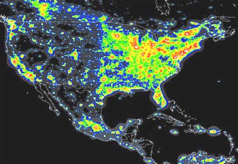 map of lights the world atlas of the artificial sky brightness