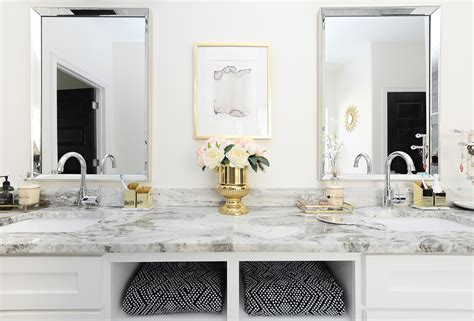 White Master Bathrooms by Glam Gold White Master Bathroom Refresh Wants It