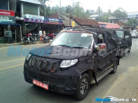 mahindra new model new model mahindra bolero pics front angle carblogindia