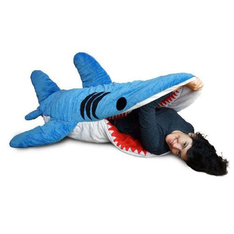 shark pillow that eats you chumbuddy shark sleeping bag shut up and take my money