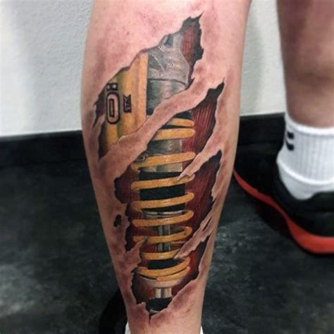 50 suspension tattoo designs for men shock absorber ideas