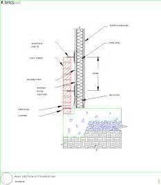 wall section at foundation aia cad details zipped into