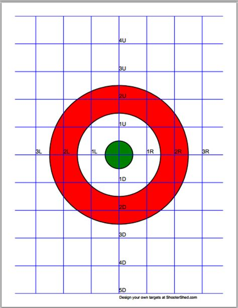 printable zero targets make your own pdf targets with interactive target