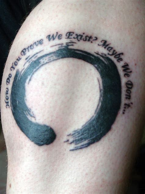 enso circle tattoo enso circle and quote by xhaplox on deviantart