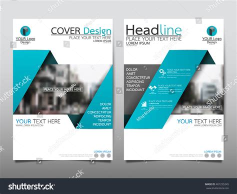 Blue Annual Report Brochure Flyer Design Stock Vector 401255245 Shutterstock Blue Flyer Template