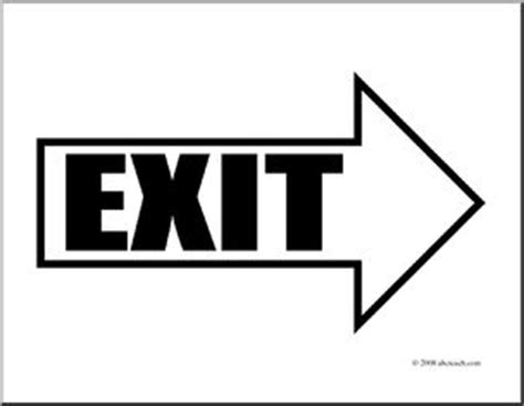 clip art: arrow 01 exit right (coloring page) | abcteach