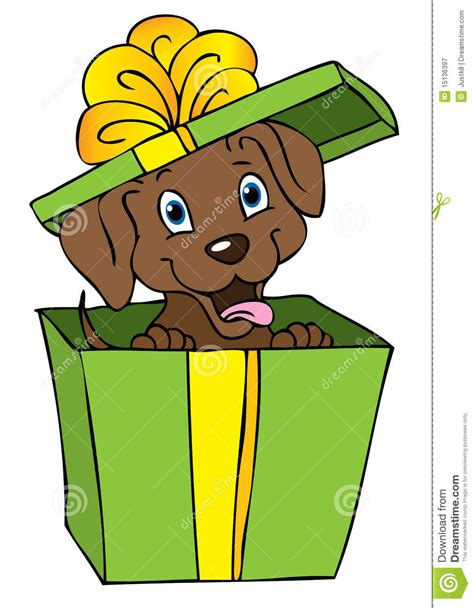 puppy in a box gift royalty free stock photography image 15136397