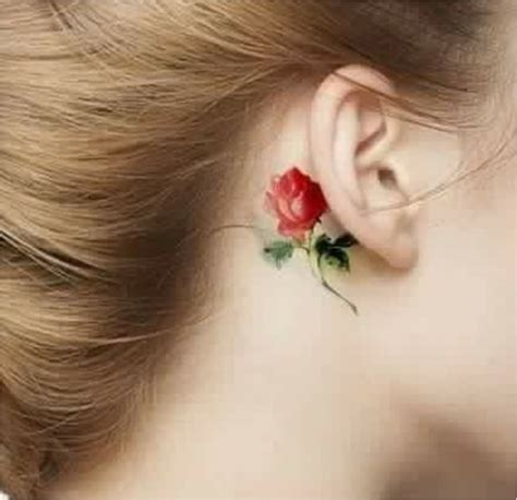 flower tattoo behind ear meaning from delicate to rebellious 40 fabulous flower tattoos