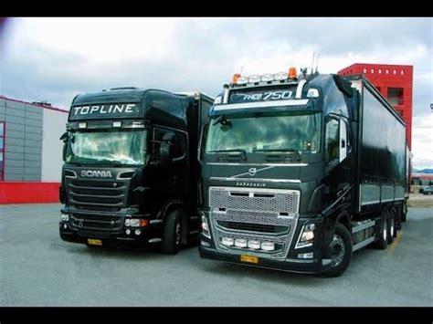 167 293 ets2 scania vs volvo with 95 ton v8 730hp vs