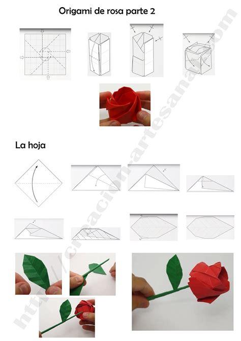Rosa De Origami - como hacer una rosa de origami paso a paso rosas de