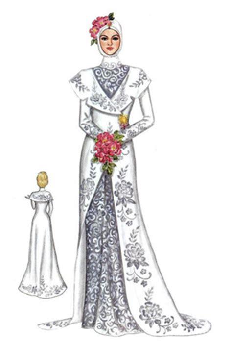 sketchbook terbaru kebaya pengantin muslim di sini
