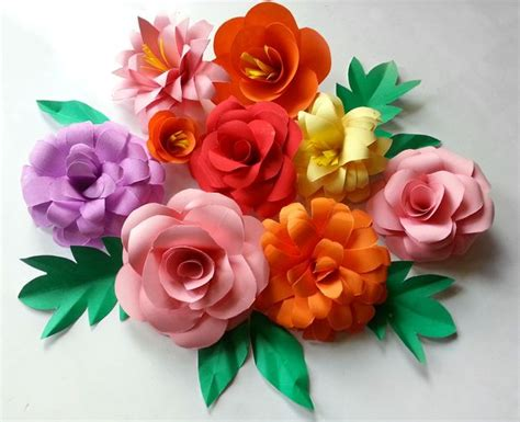 How To Make Colored Paper Flowers - 20 diy paper flowers to craft this weekend